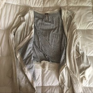Free People Cropped Open Cardigan